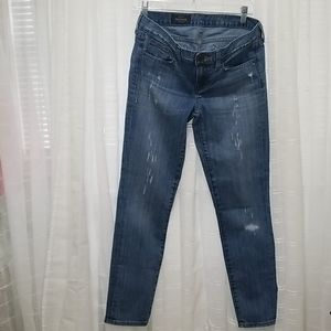J. Crew Toothpick Distressed Jeans - Ankle Jeans